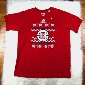 Los Angeles Clippers Adidas Climalite SS T-Shirt